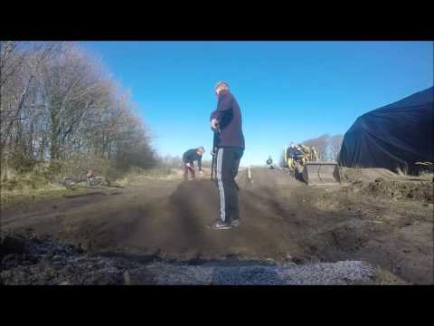 Building dirt jumps timelapse