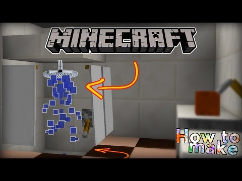 How to take a shower in Minecraft! (no mods!)