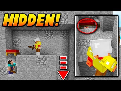 HIDDEN BED PLAYER TROLL! - Minecraft SKYWARS TROLLING (UNDER THE BED!)
