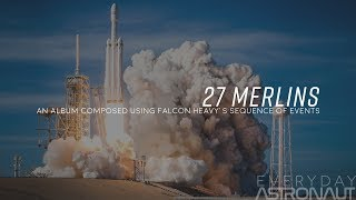 """""""27 Merlins"""" Music composed to Falcon Heavy's sequence of events"""