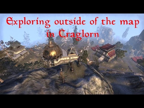 Exploring outside of the map near Craglorn