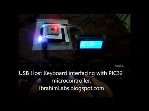 USB HID host Keyboard using PIC32
