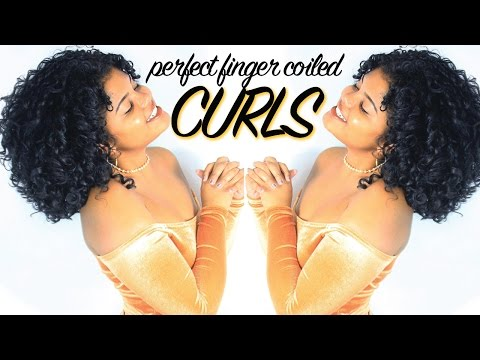 Voluminous Natural Curly Hair | Finger Coiling Method