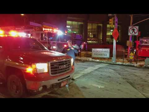 NYU EMS Transporting A Person Struck By A Train In Midtown, Manhattan, NY