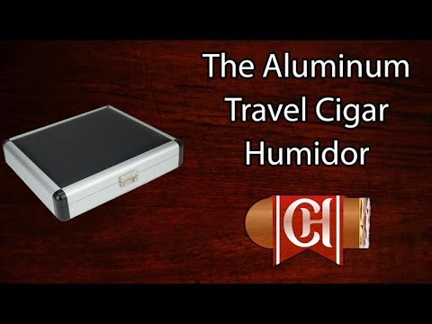The Aluminum Travel Cigar Humidor