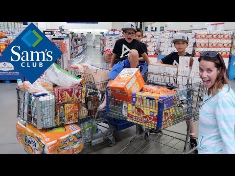 SUMMERTIME SAMS CLUB GROCERY HAUL 🛒 KIDS PICK OUT THEIR OWN SUMMER LUNCHES GROCERY SHOPPING