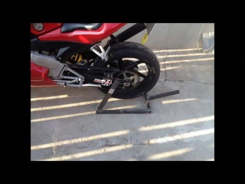Homemade moto stand stander - in progress project - Cagiva Mito SP525 Motorcycle