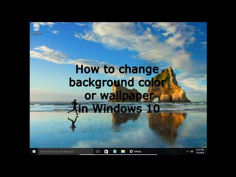How to change background color or wallpaper in Windows 10