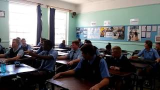 Car driving in clasroom