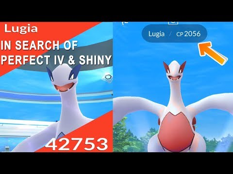 FINDING PERFECT IV LUGIA! FIRST SHINY LEGENDARY RELEASE IN POKEMON GO