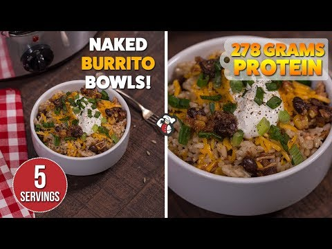 SLOW COOKER Burrito Bowls Meal Prep Recipe