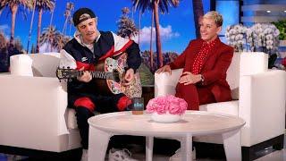 Justin Bieber Serenades Ellen with 'Yummy'