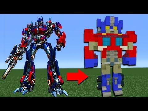 Minecraft Tutorial: How To Make Optimus Prime In Minecraft