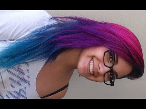 How I Did My Pink, Purple, Blue, and Turquoise Hair