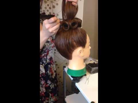Bun pin curls