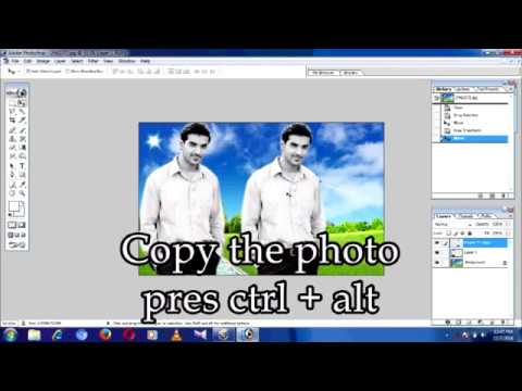 How to make edit photo in 2 min  Adobe Photoshop 7 0