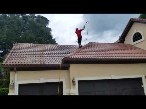 Cleaning a Bermuda tile roof