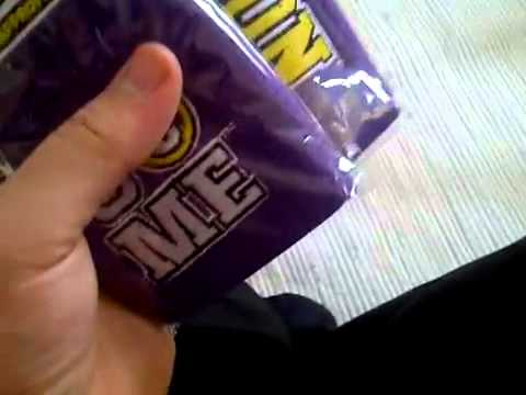 WWE eBay Unboxing   John Cena Purple Wristband And Sweatband Set.flv