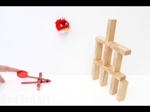 How to Make a Craft Stick Catapult DIY (simple S.T.E.M. ideas)