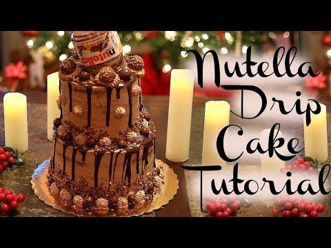 NUTELLA DRIP CAKE TUTORIAL || Janie's Sweets
