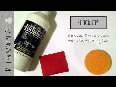 Preparing a Smooth Canvas for Painting - Oil or Acrylic