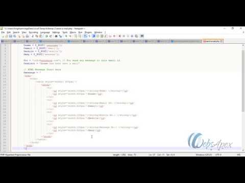 Create a Simple HTML Form and Send Email through PHP in Hindi