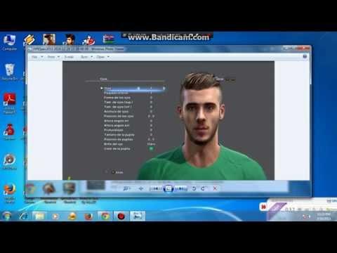 tutorial relink face pes 2013 new face de gea