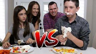 CANDY FOOD vs REAL FOOD!! (Burrito Edition)