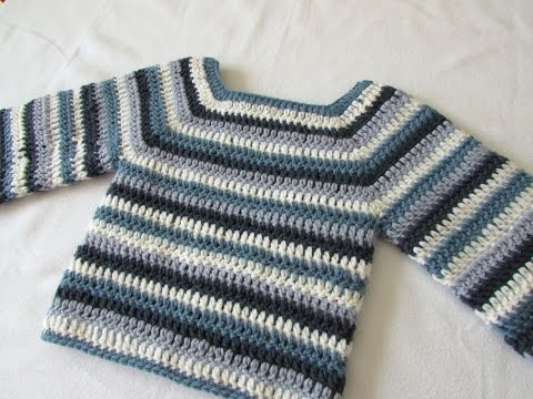How to crochet a basic sweater / jumper - any size