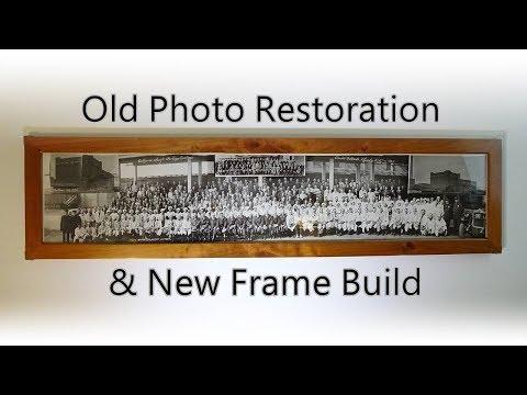 Antique Photo Restoration & Picture Frame Build