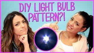 Niki and Gabi DIY Light Bulb Art?! | Niki and Gabi DIY or DI-Don