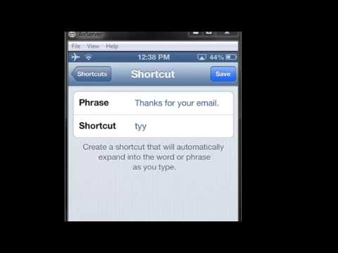 iPhone Tip - How to Create and Delete Keyboard Shortcuts