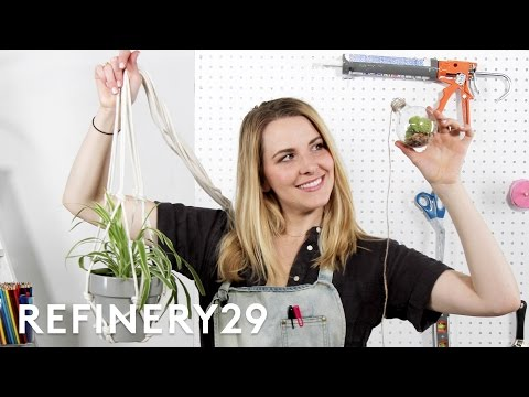 DIY: Succulent Garden and Plant Hacks | Bea Organized | Refinery29