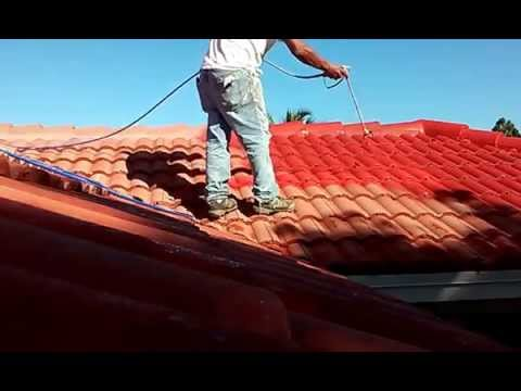 Spray Techniques How Painting Roof Tiles Using An Airless Sprayer