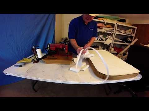 Boat Upholstery Chap 52 part 2  Center Console Seat Redo
