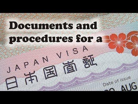 Japan work visa documents and procedures