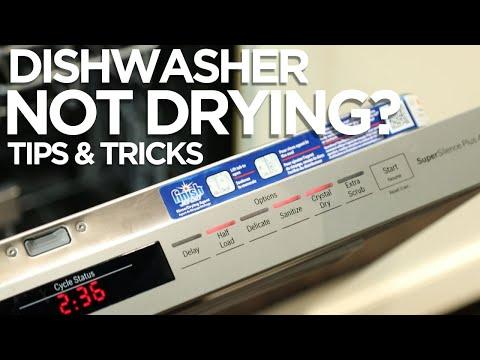 Why won't my dishwasher dry?