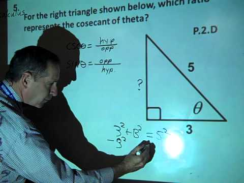 Find the Cosecant of an Angle in a Right Triangle