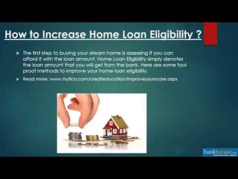 How to Increase Home Loan Eligibility onloine