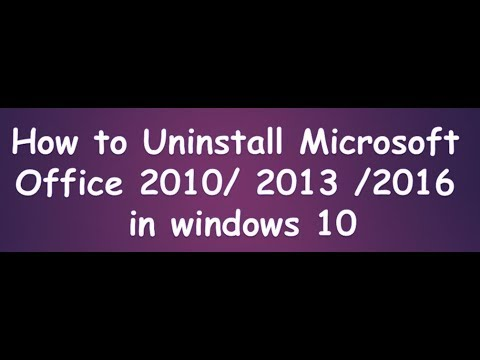 how to uninstall microsoft office 2013 in windows 10
