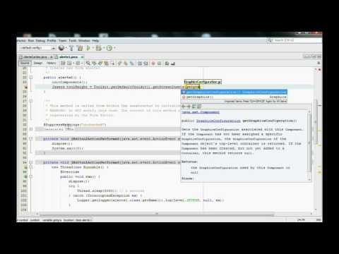 How to make a alert with java swing