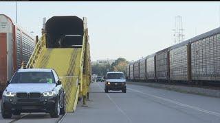 Unloading Rail Cars