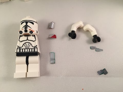 How to make custom lego star wars clone troopers (Part 1 of 3)