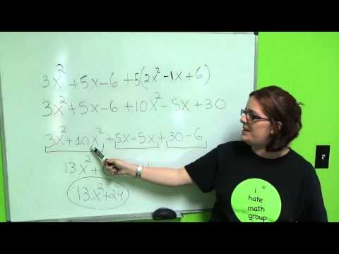 Tutorial 4 Algebra Polynomials
