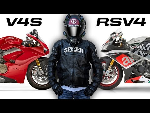 Ducati V4S vs Aprilia RSV4 Rivalry.  RSV4 Wins!