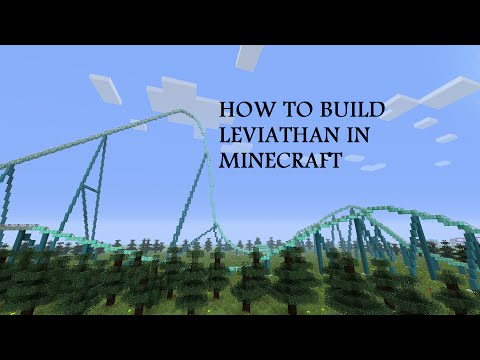 How to build Leviathan part 1: Minecraft Roller Coaster