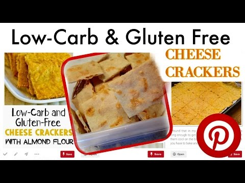 Low-Carb , Gluten Free CHEESE CRACKERS with Almond Flour