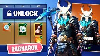 Fortnite *SEASON 5* Unlocking Ragnarok Skull & Permafrost Pickaxe!! (Fortnite Battle Royale)