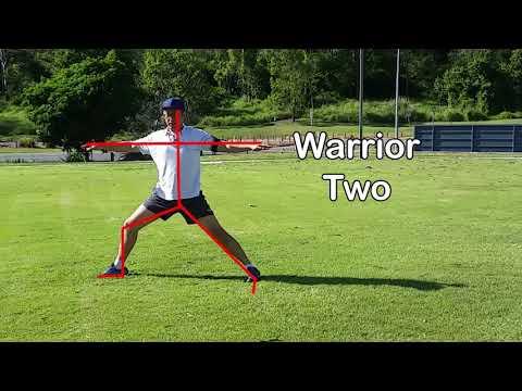 Beginner Yoga Tutorial 4 - Warrior Two, Plank, Downward Dog