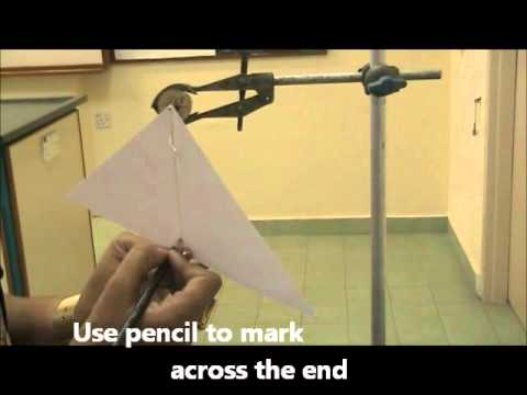 Determining Centre of Gravity of an Irregular Object Expt